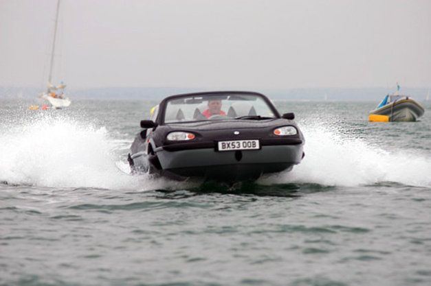AquaCar - An amphibious car being demonstrated at the Cowes Week Regatta.