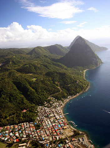 The Pitons  -  St Lucia Famous Landmark