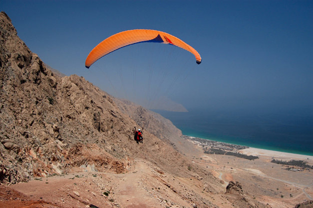 Paragliding in Zighy Bay