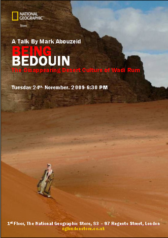 Being Bedouin - Tuesday 24th November at the Nat Geo store on Regent Street