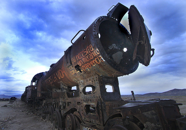 Train Cemetery at Uyuni - Bolivia