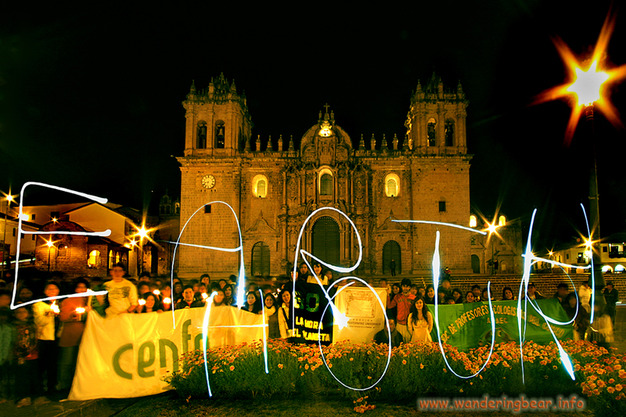 Earth Hour - Cusco Peru