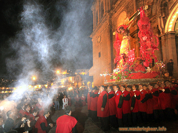 Senor de Los Temblores - The first Event of Easter Week - Cusco Peru