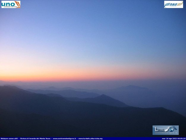 Raccolta webcam all'alba del 16/08/2011