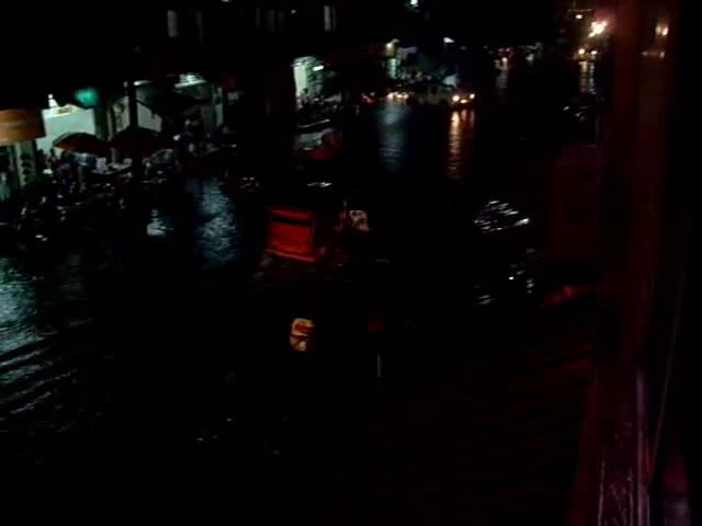Nightly Flooding in Phnom Penh during Monsoon, Cambodia