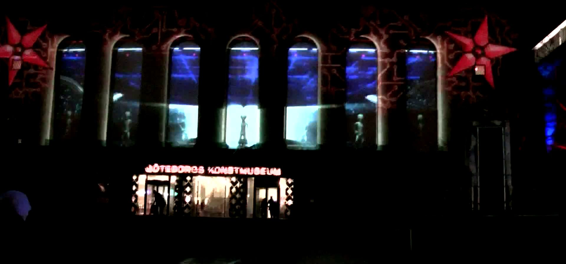Gothenburg Christmas Light show 2011